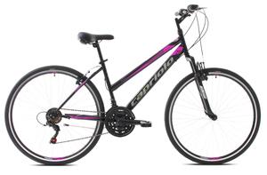 "CAPRIOLO trekking bicikl TREK SUNRISE L 28""/18HT crno/rozi"