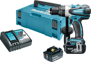 MAKITA akumulatorska bušilica-izvijač DDF458RFJ (18V, Li-ion, 2x3Ah)