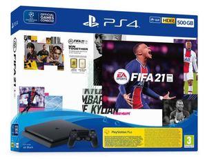 PlayStation 4 500GB F Chassis Black +FIFA 21 + FUT VCH + PS+14dana