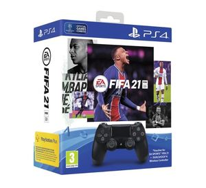 PS4 Dualshock kontroler v2 Black + FIFA 21 + FUT VCH + PS Plus 14dana