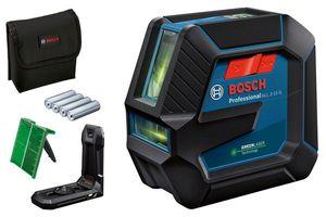 BOSCH Professional laserski nivelir GLL 2-15 G + cilj. ploča + torba