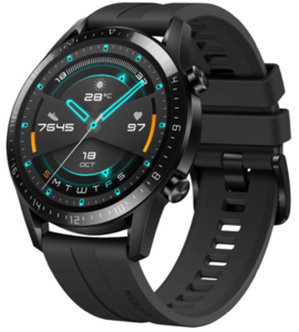 Huawei Watch GT2 46 mm Sport, crni silikonski remen, pametni sat