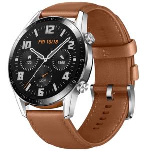 Huawei Watch GT2 46 mm Classic, smeđi kožni remen, pametni sat