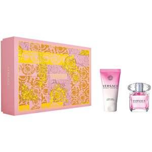 Versace Bright Crystal EDT Gift Set : EDT 30 ml - Body Lotion 50 ml, ženski poklon set