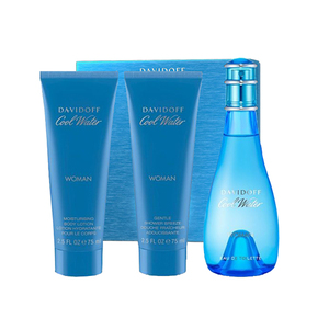 Davidoff Cool Water Women 3 Piece EDT 100 ml Body Lotion 75 ml Shower Gel 75ml, ženski poklon set