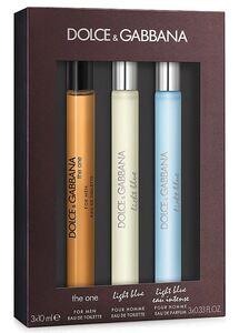 Dolce & Gabbana EDT 3 Piece Miniature Gift Set: The One EDT 10 ml - Light Blue EDT 10 ml - Light Blue Lea Intense EDP 10 ml, muški poklon set