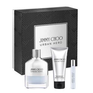 Jimmy Choo Urban Hero EDP Gift Set : EDP 100 ml - Aftershave Balm 100 ml - EDP 7.5 ml, muški poklon set