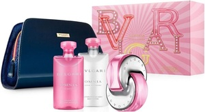 Bvlgari Omnia Pink Sapphire EDT Gift Set : EDT 65ml - Body Lotion 75ml - Shower Gel 75ml - Washbag, ženski poklon set