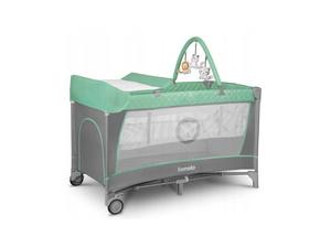 Lionelo dječji prijenosni krevetić Flower, tirkiz