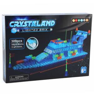 Crystaland kockice za slaganje Policijski brod