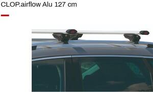 G3 krovni nosač CLOP Airflow aluminij 127cm, za integrirane odvojene uzdužne vodilice
