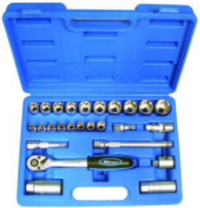 """BGS Set nasadnih ključeva 6-24mm 3/8"""" 26dj. pro+ 2227 promo"""