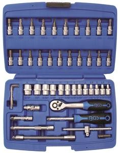 """BGS Set nasadnih ključeva i bitova 4-14mm 1/4"""" 46dj. pro+ 2145"""