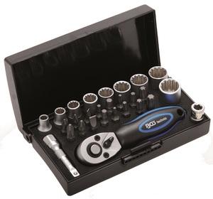 """BGS Set nasadnih ključeva i bitova 5-13mm 1/4"""" 28dj pro+ 2143"""