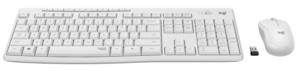 Logitech MK295,920-009824, Silent Wireless tipkovnica + miš, bijela