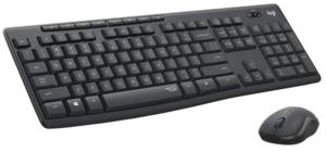 Logitech MK295,920-009809, Silent Wireless tipkovnica + miš, graphite