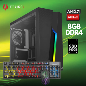 Stolno računalo Hyper X 2096 AMD Athlon 3000G/8GB DDR4/SSD 240GB/Tipkovnica+miš
