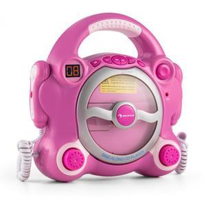 Auna Pocket Rocker sing-a-long sustav s CD playerom, 2 mikrofona, baterije