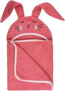 Bubaba ručnik s kapuljačom i ušima rozi zeko 110 x 75 cm 42431