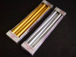 Svijeća Konus 35cm metalik zlatna 4kom