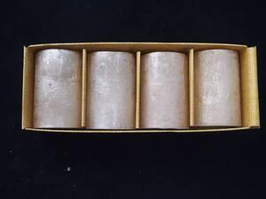Svijeća metalik 5x7.5cm. 4kom - sv. roza