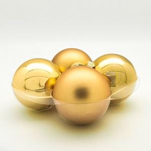 Staklene kuglice 100mm/4kom - zlatne S/M