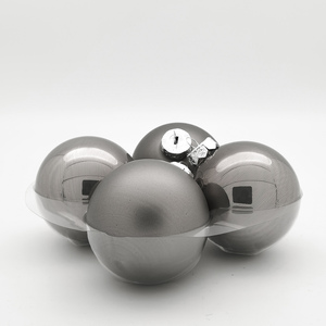 Staklene kuglice 100mm/4kom - srebrne S/M