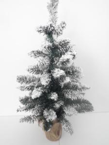 Umjetna božićna jelka 60cm sniježna, promjer 38cm
