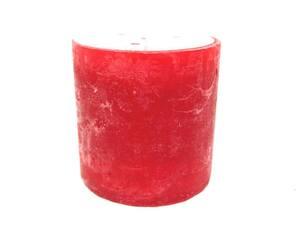 Svijeća frost 10x10cm - crvena