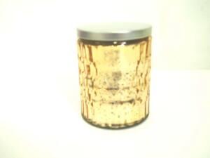 Svijeća u čaši s poklopcem 7x9cm - zlatna miris