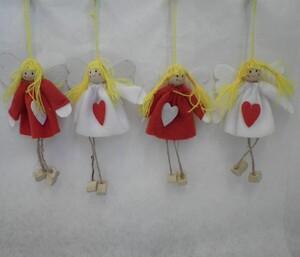 Ukras za bor anđeli s nogicama 11cm - 4kom