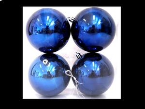 Plastične kuglice 10cm/4kom - plava