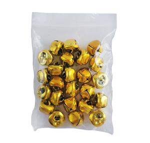 Dekorativni metalni praporci 1.8cm 24kom-zlatna