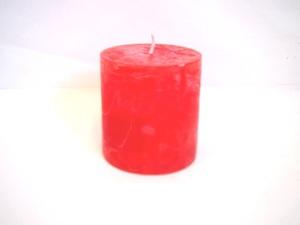 Svijeća frost 6.8x7.2cm - crvena
