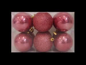 Plastične kuglice 6cm/12kom - roza