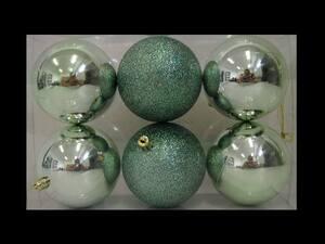 Plastične kuglice 8cm/6kom - eukaliptus