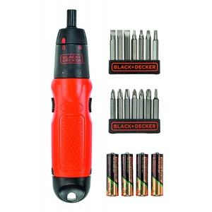 BLACK & DECKER akumulatorski odvijač 6V s priborom - blister set A7073