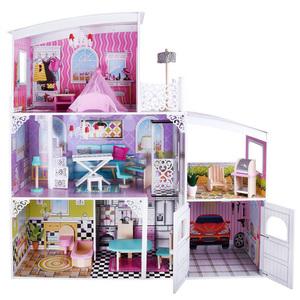 Drvena kućica za lutke sa garažom (112x110cm)