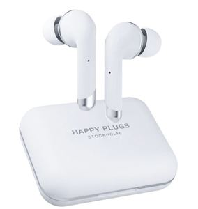 Happy Plugs, Air1 Plus, In-Ear bežične slušalice, bijele