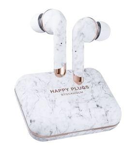 Happy Plugs, Air1 Plus, In-Ear bežične slušalice, bijelo mramorne