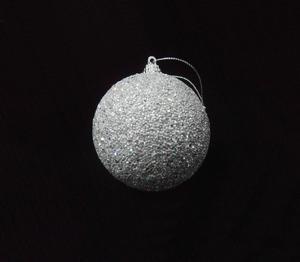 Stiropor kuglica - Srebrna 8 cm - 3 kom 83293