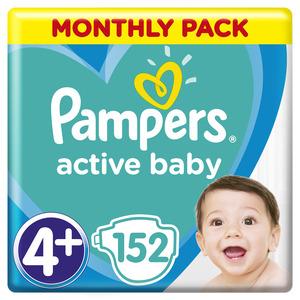 Pampers Active Baby mjesečno pakiranje S4+ 152 kom