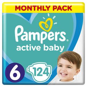 Pampers Active Baby mjesečno pakiranje S6 124 kom