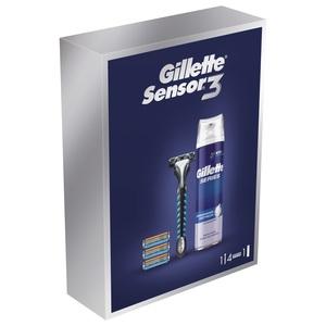 Gillette Sensor3 poklon paket (4 zamjenjive britvice + pjena za brijanje 250 ml)