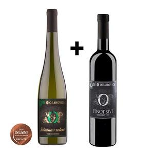 PP ORAHOVICA Duo-Pack Silvanac zeleni vrhunski 0,75 l + Pinot Sivi vrhunski 0,75 l