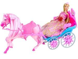 Lutka s kraljevskom kočijom - roza
