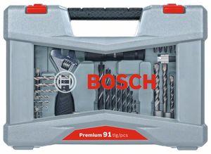 BOSCH 91-dijelni set svrdla i bitova izvijača Premium X-Line