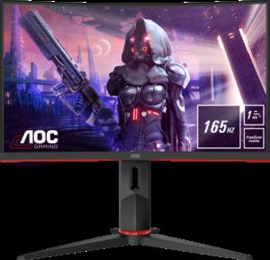 AOC monitor C24G2U, Zakrivljeni, VA, 165Hz, VGA, DP, 2xHDMI, HAS