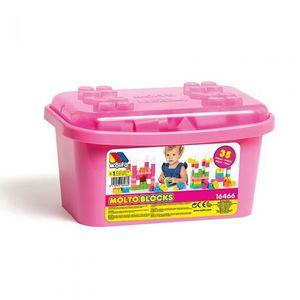 Molto kutija sa kockama 35 kom pink