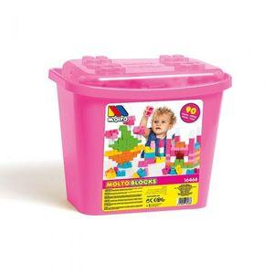 Molto kutija sa kockama 90 kom pink